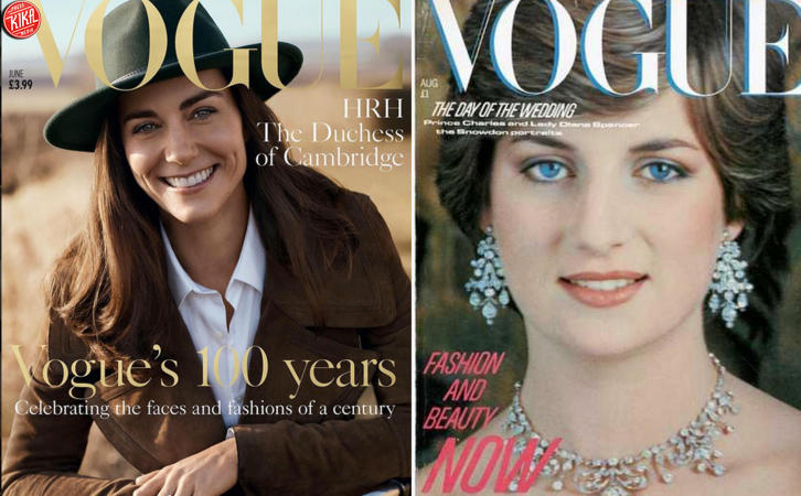 Kate Middleton sulla cover di Vogue, come Diana nel '91