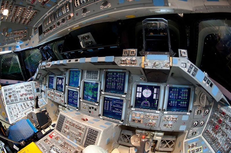 dentro la cabina di pilotaggio di uno shuttle gli scatti On la cabina di zio ben
