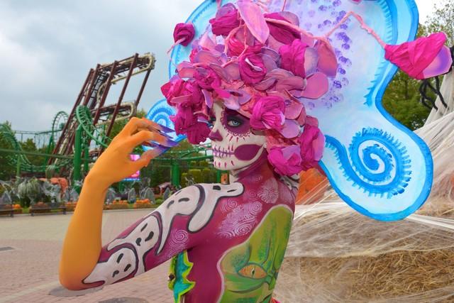 I capolavori creati dai Campioni Italiani di BodyPainting  hanno stupito i visitatori nella giornata di apertura  di Gardaland Magic Halloween