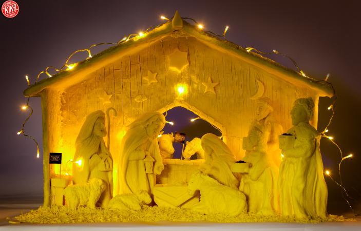 Il Natale è gustoso, se il presepe è fatto di Cheddar!